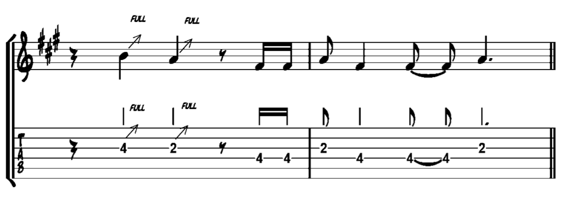 blues guitar lick 2