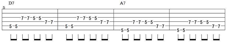 blues tablature exercise