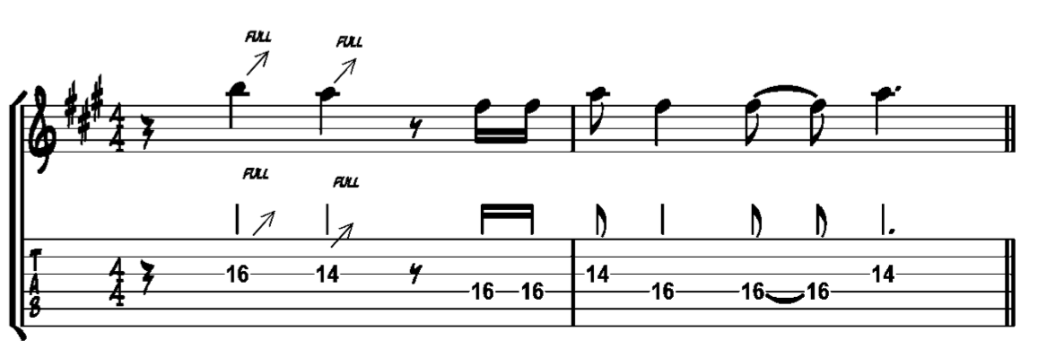 blues guitar lick