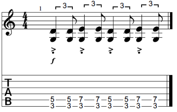 staccato blues shuffle